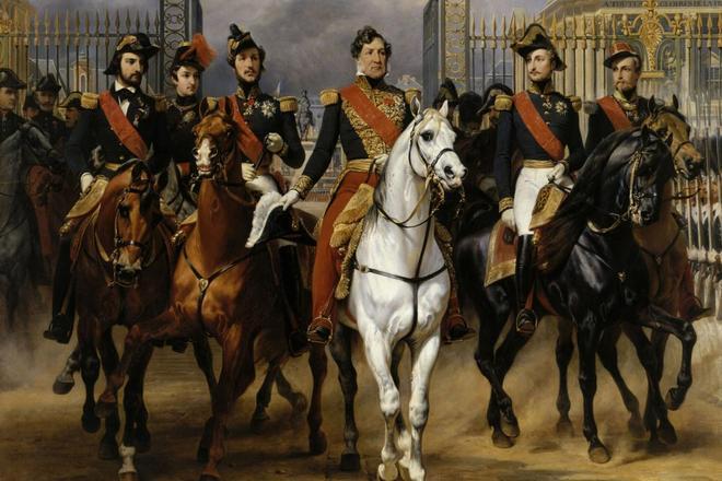 Король Франции Луи-Филипп I ссыновьями. <br>